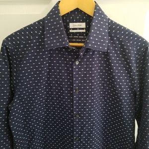 Calvin Klein Long Sleeve Slim Fit Dress Shirt Med